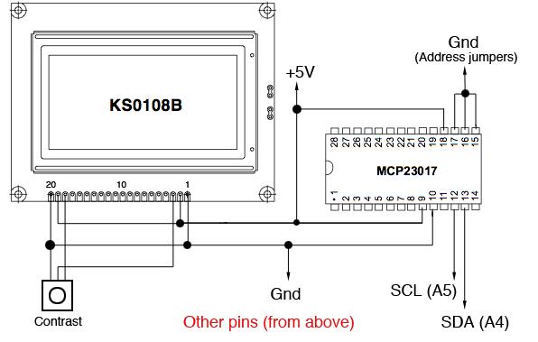 Arduino KS0108B Graphic LCD - GLaDOS